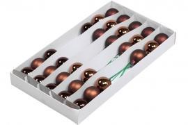 Glaskula.Bas Choklad Mix 4cm Lång 30st , hemmetshjarta.se
