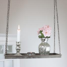 Hängande hylla - antikgrå , hemmetshjarta.se