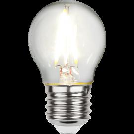 LED-Lampa E27 Ø45 lm270/26w Clear , hemmetshjarta.se
