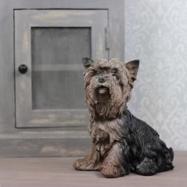 Hund Yorkshire Poly 21x23cm , hemmetshjarta.se