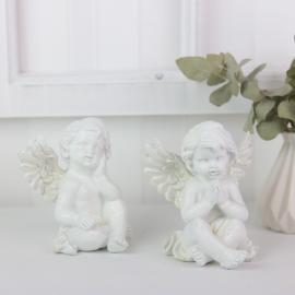 .Sittande änglar med glitter 2-pack , hemmetshjarta.se
