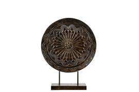 Fönster/Bord deko Plate Brun Metall 58 cm * , hemmetshjarta.se