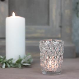 Ljuslykta Stämning 9 cm - silver , hemmetshjarta.se