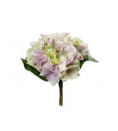 Konstgjord Hortensia bukett 30 cm , hemmetshjarta.se