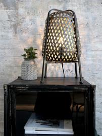 Lampa i korg H44,5 / Ø25 cm antikt kol , hemmetshjarta.se