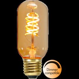 LED-lampa E27 Decoled Spiral Amber T45 Dim , hemmetshjarta.se