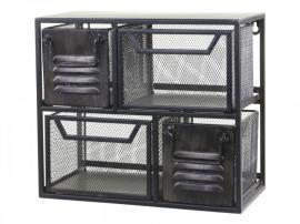Vägghylla Industry med 4 lådor H28.5 / L32.5 / W17 cm antik svart , hemmetshjarta.se