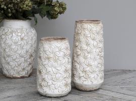 Colmar vas med blommor Keramik H33 / Ø15 cm antik creme 1 st , hemmetshjarta.se