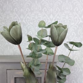 Konstgjord Tulpan 58 cm - antikgrön 1 st , hemmetshjarta.se
