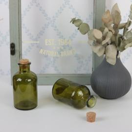 Glasflaska Grön 150ml 5,7x10,3cm , hemmetshjarta.se