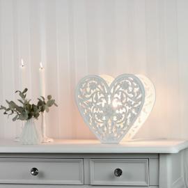 Lampa stående Hjärta snidade detaljer , hemmetshjarta.se