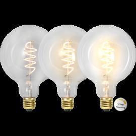 LED-lampa E27 Decoled Spiral Clear G125 Dim 3-step , hemmetshjarta.se