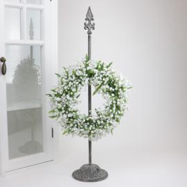 Kranshållare Lilja - antikgrå , hemmetshjarta.se