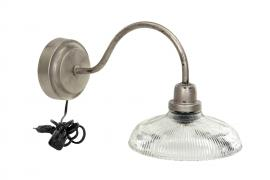 Vägglampa Isa Antik Silver 37x20x20cm , hemmetshjarta.se