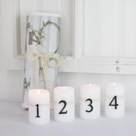Advents siffror med nål - antikbrun , hemmetshjarta.se