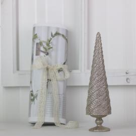 Julgran med glitter 26 cm - champagne , hemmetshjarta.se