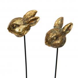 Kaninhuvud Stick Guld 2-pack , hemmetshjarta.se
