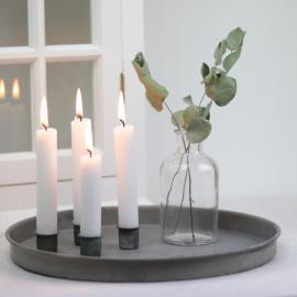 Vecka 30 Ljusstake/fat med magnet - grå , hemmetshjarta.se