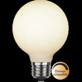 LED-Lampa E27 Double Coating Ø80 Dim lm400/35w Frostad , hemmetshjarta.se