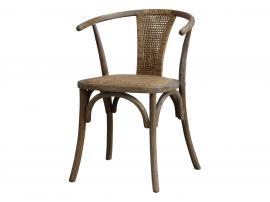 Vecka 40 Fransk matstol med korgstol och rund rygg H79 / L50 / W45 cm naturlig , hemmetshjarta.se