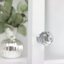 Knopp Diamant rund topp 6x3 cm , hemmetshjarta.se