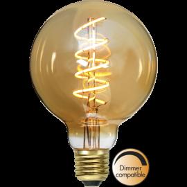 LED-lampa E27 Decoled Spiral Amber G95 Dim , hemmetshjarta.se