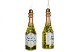 Vecka 34 Champagneflaska Glas 4x14cm 2-pack , hemmetshjarta.se