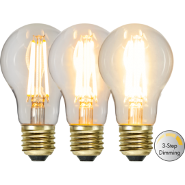 LED-lampa E27 Soft Glow A60 Dim 3-step , hemmetshjarta.se