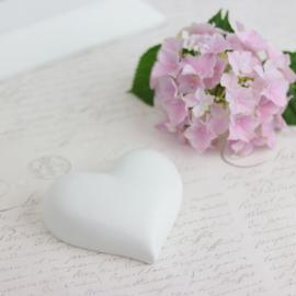 Hjärta skrivbart stor - vit , hemmetshjarta.se