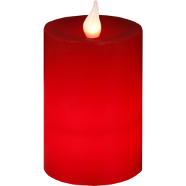 Batteridriven Blockljus LED Flame Röd 8x12cm , hemmetshjarta.se