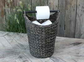 Toalettpappershållare med korg - mörk antik * , hemmetshjarta.se