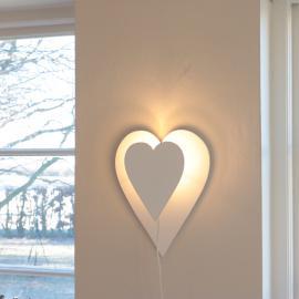 Vägglampa Hjärta - vit , hemmetshjarta.se