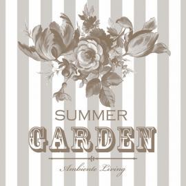 Servett - Summer garden - beige , hemmetshjarta.se