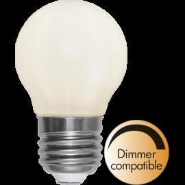LED-Lampa E27 Ø45 Dim lm440/38w Frostad Ra90 , hemmetshjarta.se