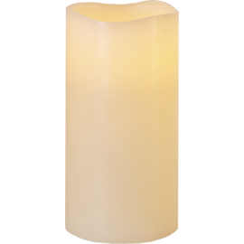 Batteridriven Blockljus LED Big Elfenben 10x20cm , hemmetshjarta.se