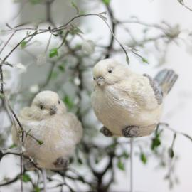 Fågel/stick Poly 7cm 2-pack , hemmetshjarta.se