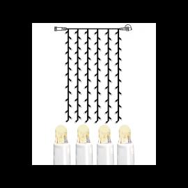 Utomhusdekoration System LED EL Ljusgardin Extra Varmvit 102 ljus 100x200cm , hemmetshjarta.se