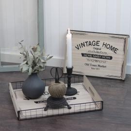 Bricka Vintage Home 2-pack , hemmetshjarta.se