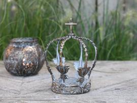 Vire Krona för dekoration Metall H15 / Ø11 cm antik mocca , hemmetshjarta.se