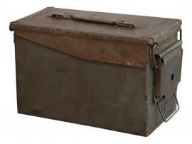 Vecka 40 Grimaud gl. Fransk Ammunitionslåda H19 / L30 / W16 cm antikgrå , hemmetshjarta.se