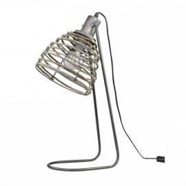 Lampa med rottingskärm H56 / L22 / W24 cm antikol , hemmetshjarta.se