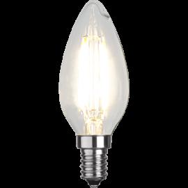 LED-Lampa E14 Ø35 lm470/40w Clear , hemmetshjarta.se