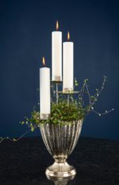 Värmeljushållare dekoration/krans - antiksilver 4-pack , hemmetshjarta.se
