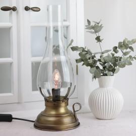 Lampa El 42 cm - Antikmässing , hemmetshjarta.se