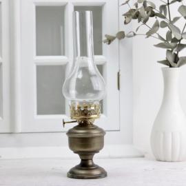 Oljelampa till värmeljus 30 cm - antik mässing , hemmetshjarta.se