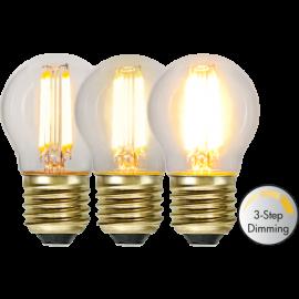 LED-lampa E27 Soft Glow G45 Dim 3-step , hemmetshjarta.se