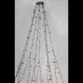 Julgransslinga Utomhus EL Crispy Ice White Vit 360 ljus 196cm , hemmetshjarta.se