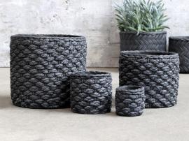 Vecka 40 Corte Kruka med korgmönster H17 / Ø18,5 cm antikt kol 1 st , hemmetshjarta.se