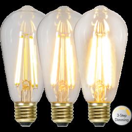 LED-lampa E27 Soft Glow ST64 Dim 3-step , hemmetshjarta.se