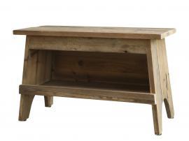Bänk med hylla H31 / L50 / B24 cm naturlig , hemmetshjarta.se